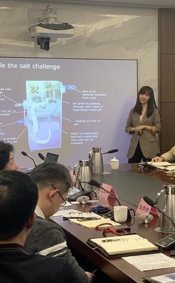 Meeting with wind farm owners in Shanghai